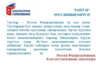 Россия Федерациязының Конституцияның эдилгелери